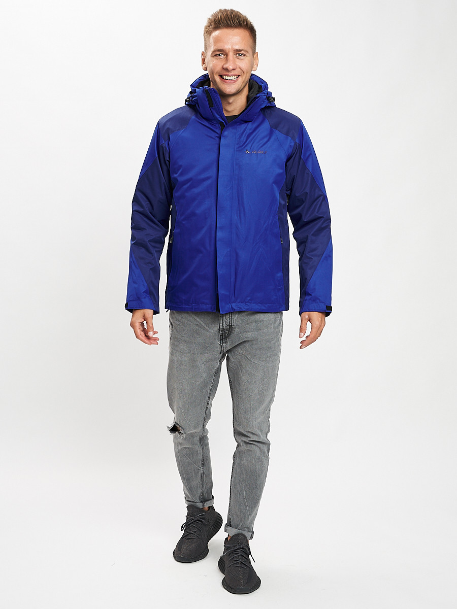 Купить оптом Куртка демисезонная 3 в 1 синего цвета 93213S в Екатеринбурге