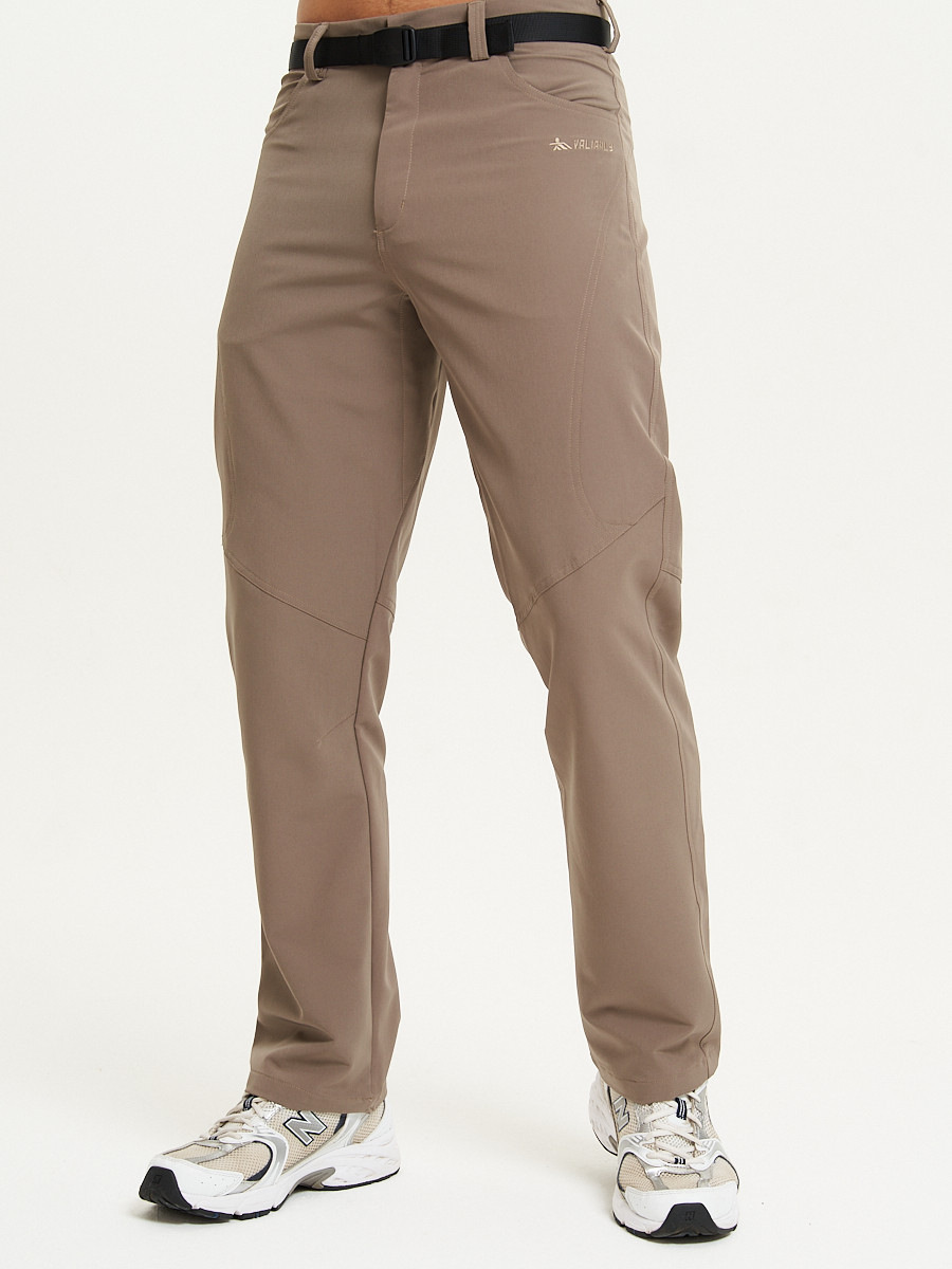 Купить оптом Спортивные брюки Valianly мужские коричневого цвета 93434K в Екатеринбурге
