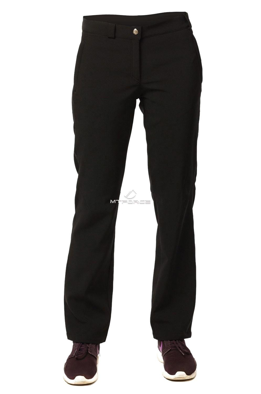 Купить оптом Брюки виндстопер женские черного цвета 9355Ch в Новосибирске