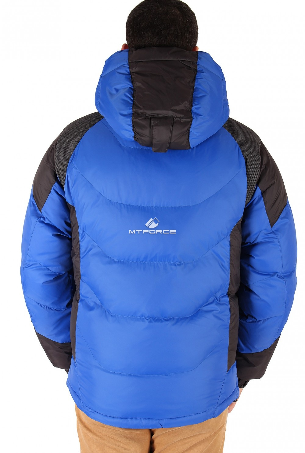 Купить оптом Куртка зимняя мужская синего цвета 9406S в Екатеринбурге