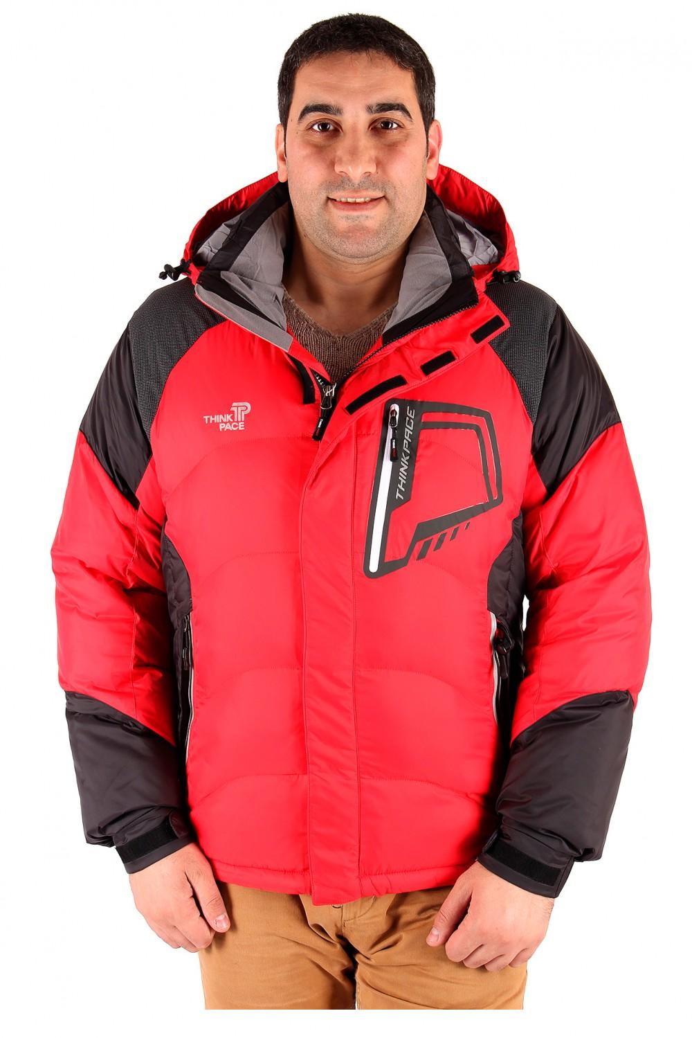 Купить оптом Куртка зимняя мужская красного цвета 9406Kr в Перми