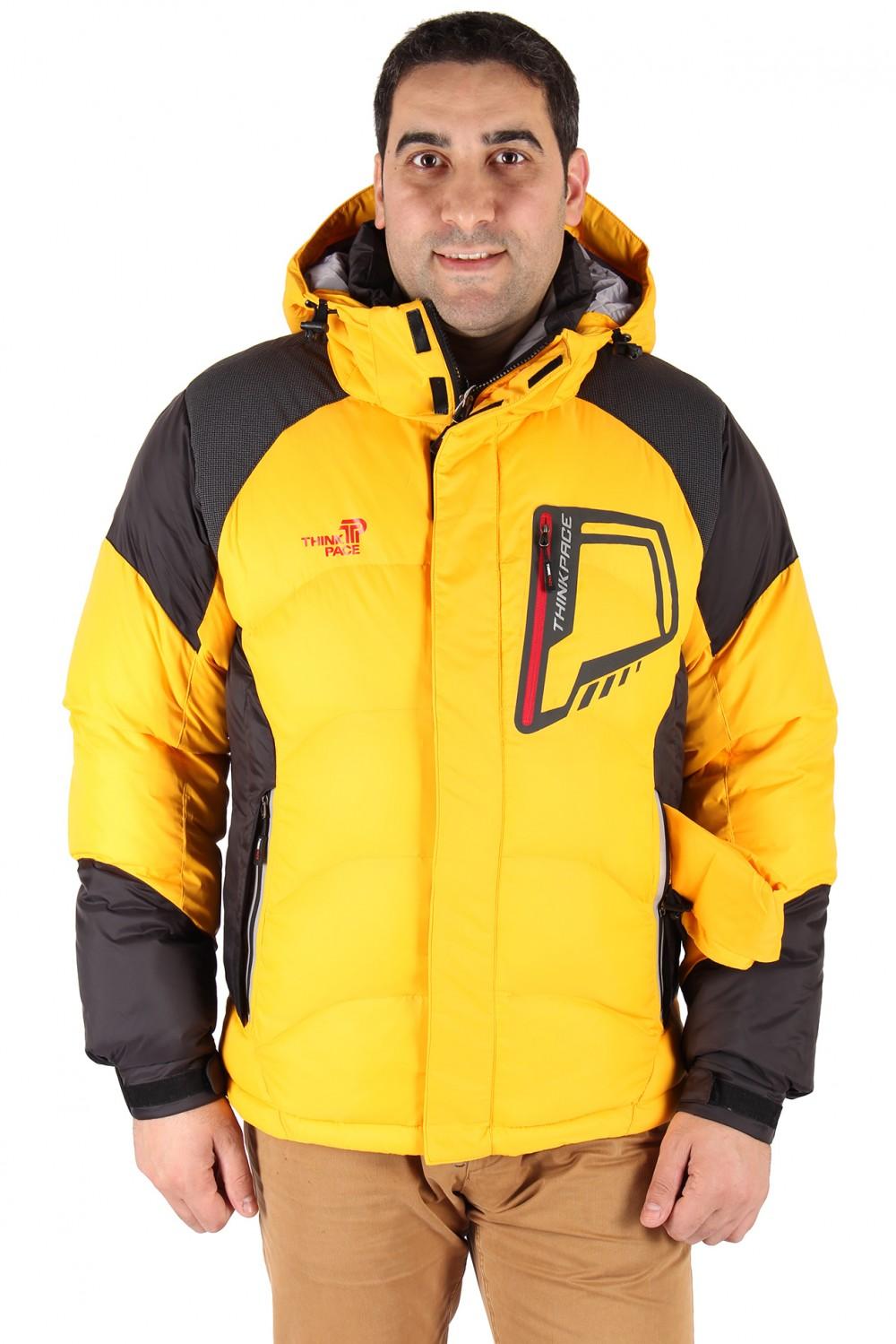 Купить                                      оптом Куртка зимняя мужская желтого цвета 9406J в Санкт-Петербурге