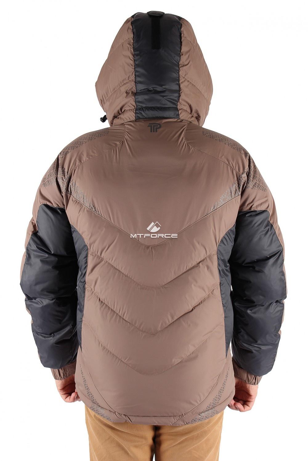 Купить оптом Куртка зимняя мужская коричневого цвета 9421K