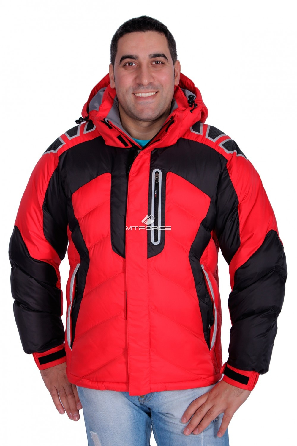 d7eb0e5ec Купить оптом мужскую зимнюю спортивную куртку красного цвета в ...