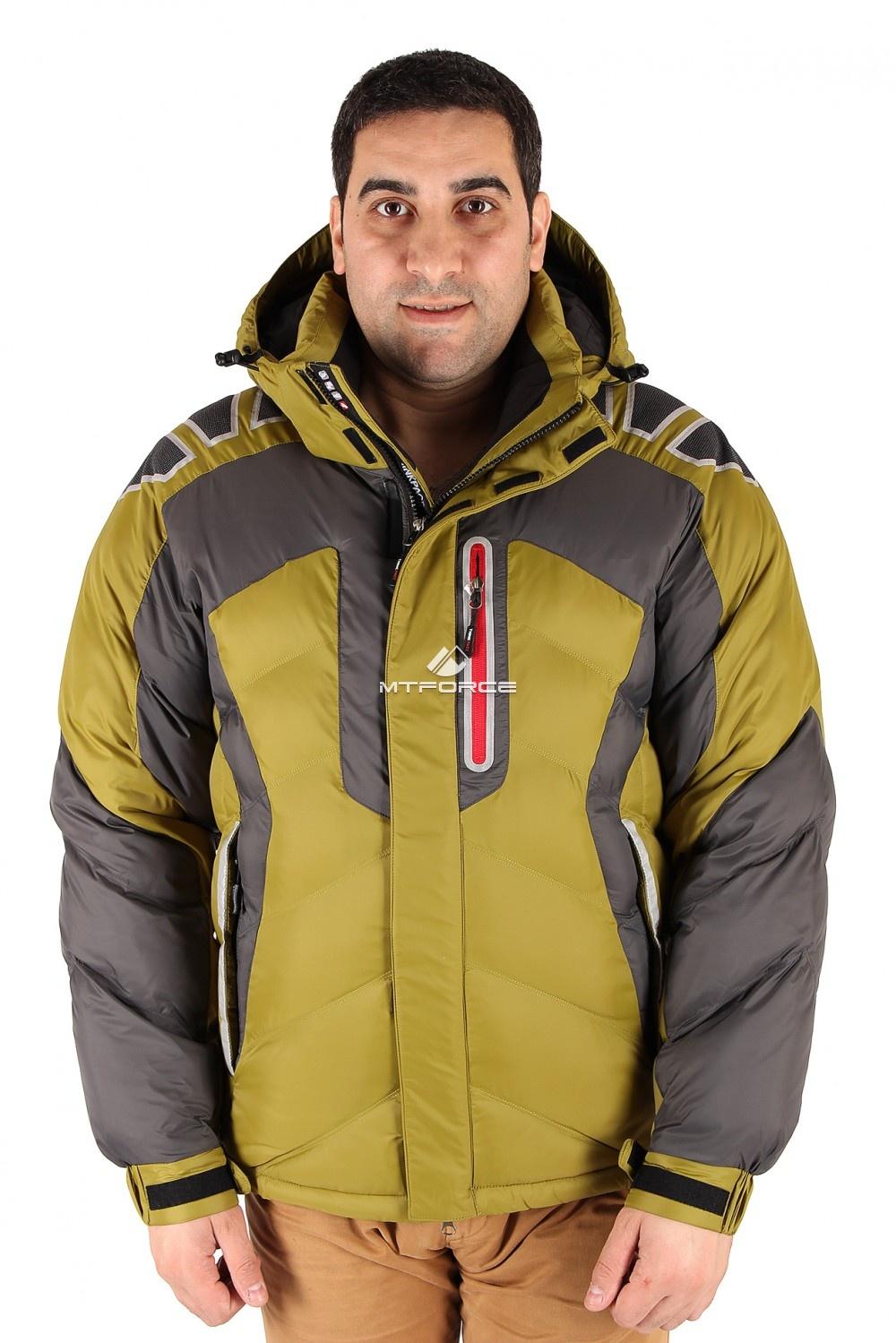 Купить оптом Куртка зимняя мужская болотного цвета 9439Bt в Волгоградке