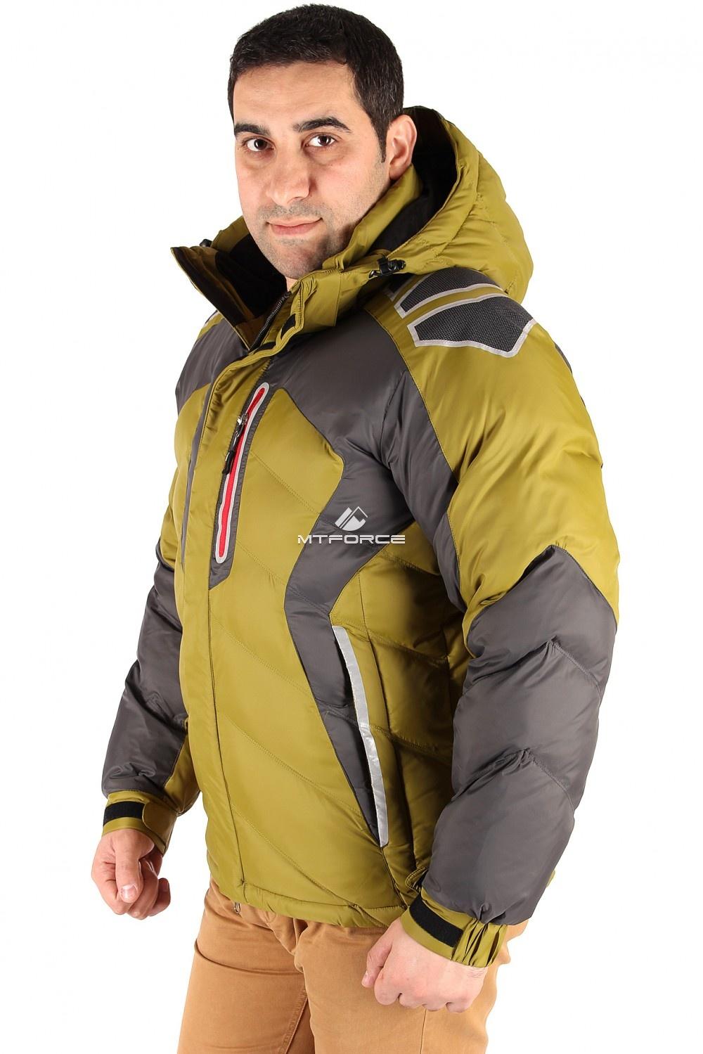 Купить оптом Куртка зимняя мужская болотного цвета 9439Bt в Санкт-Петербурге