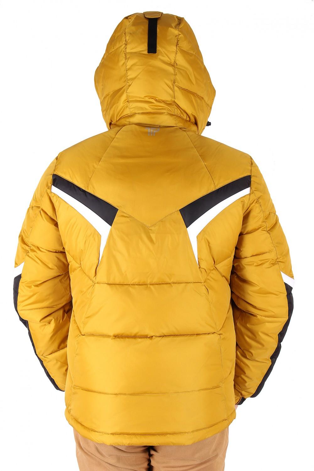 Купить оптом Куртка зимняя мужская горчичного цвета 9440G