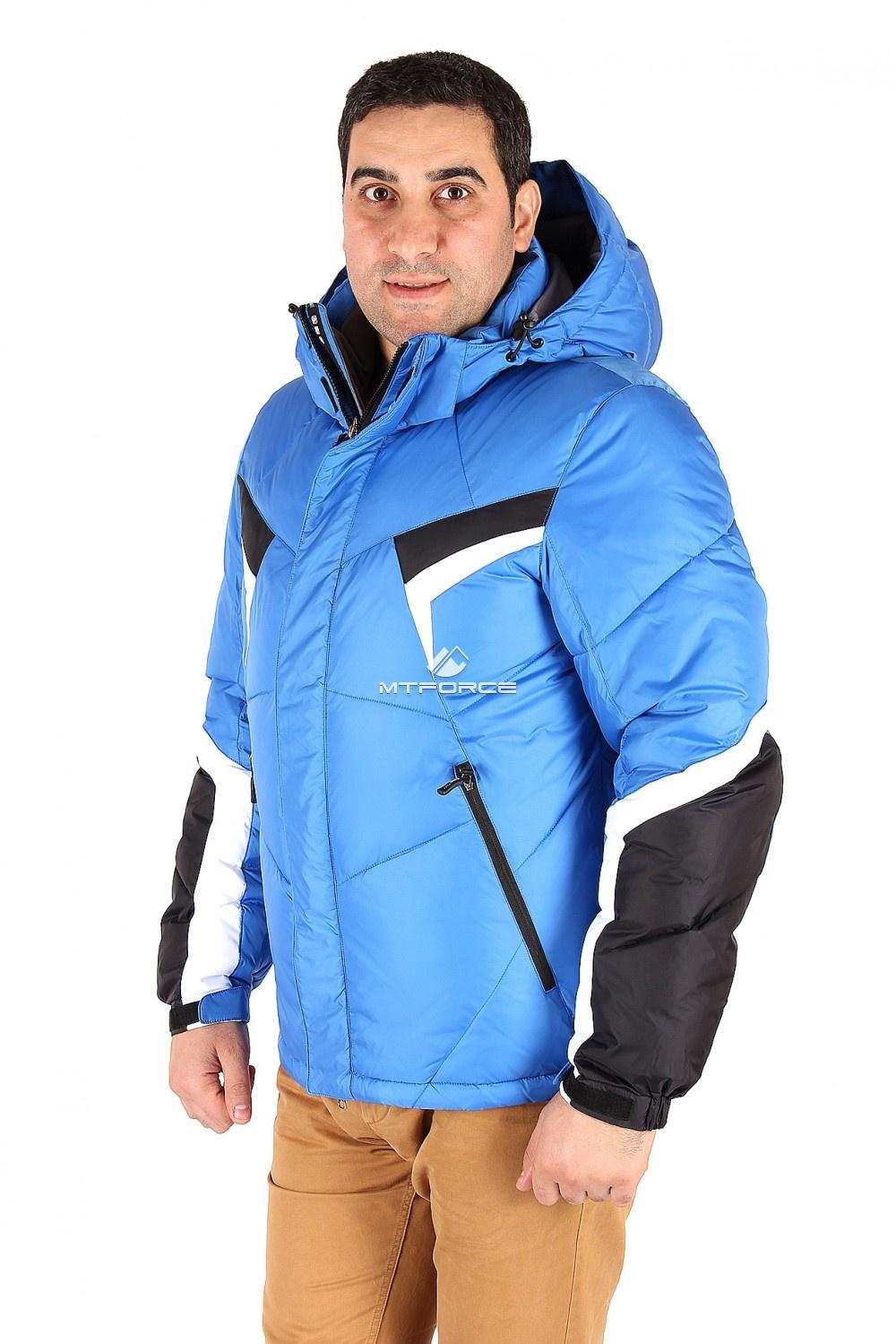 Купить оптом Куртка зимняя мужская синего цвета 9440S в Самаре