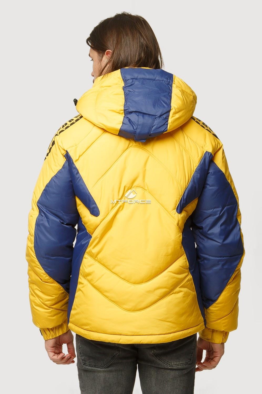 Купить оптом Куртка зимняя мужская желтого цвета 9441J в Казани