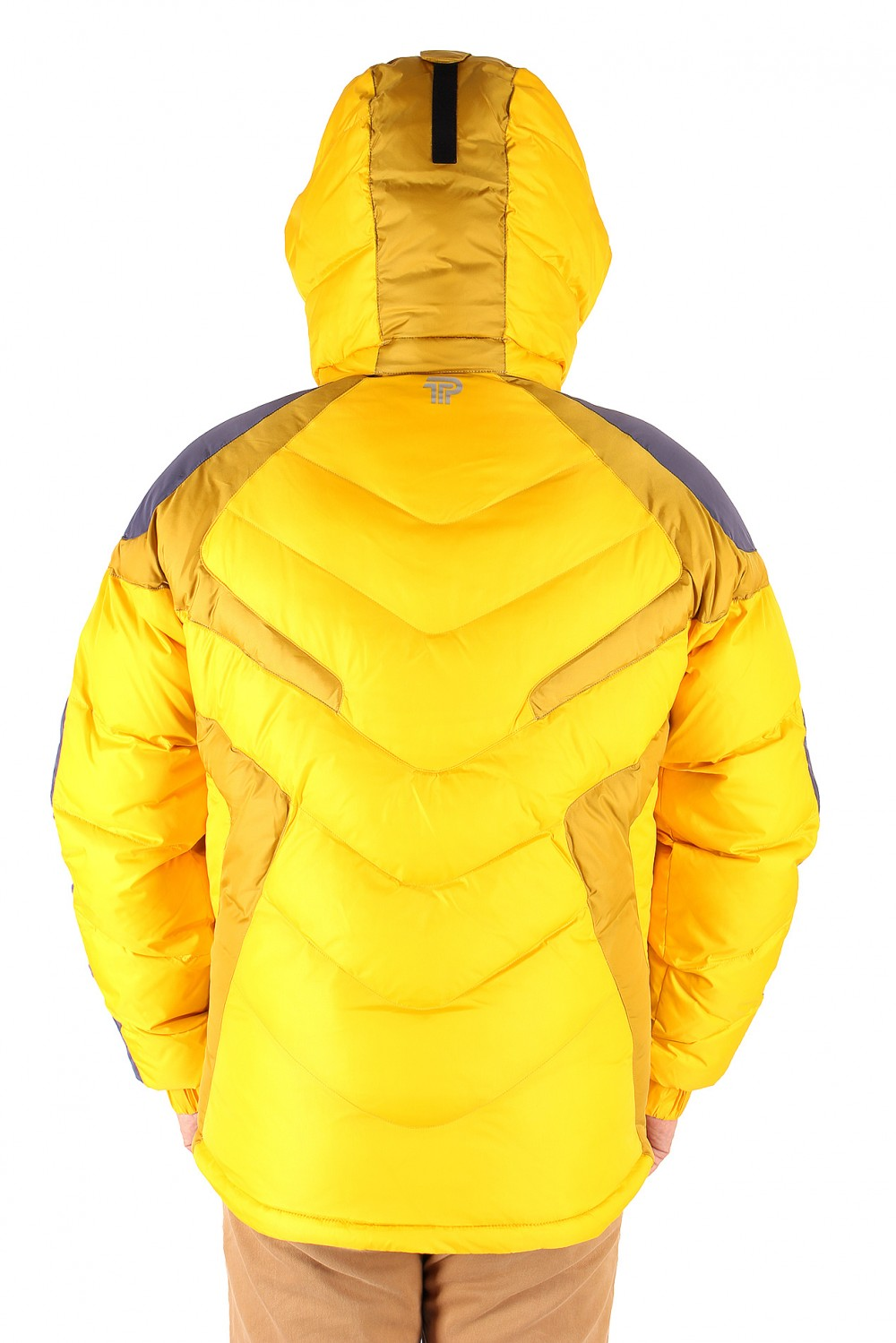 Купить оптом Куртка зимняя мужская желтого цвета 9453J в Воронеже