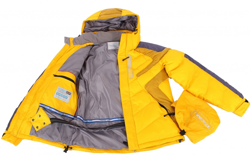 Купить оптом Куртка зимняя мужская желтого цвета 9453J в  Красноярске