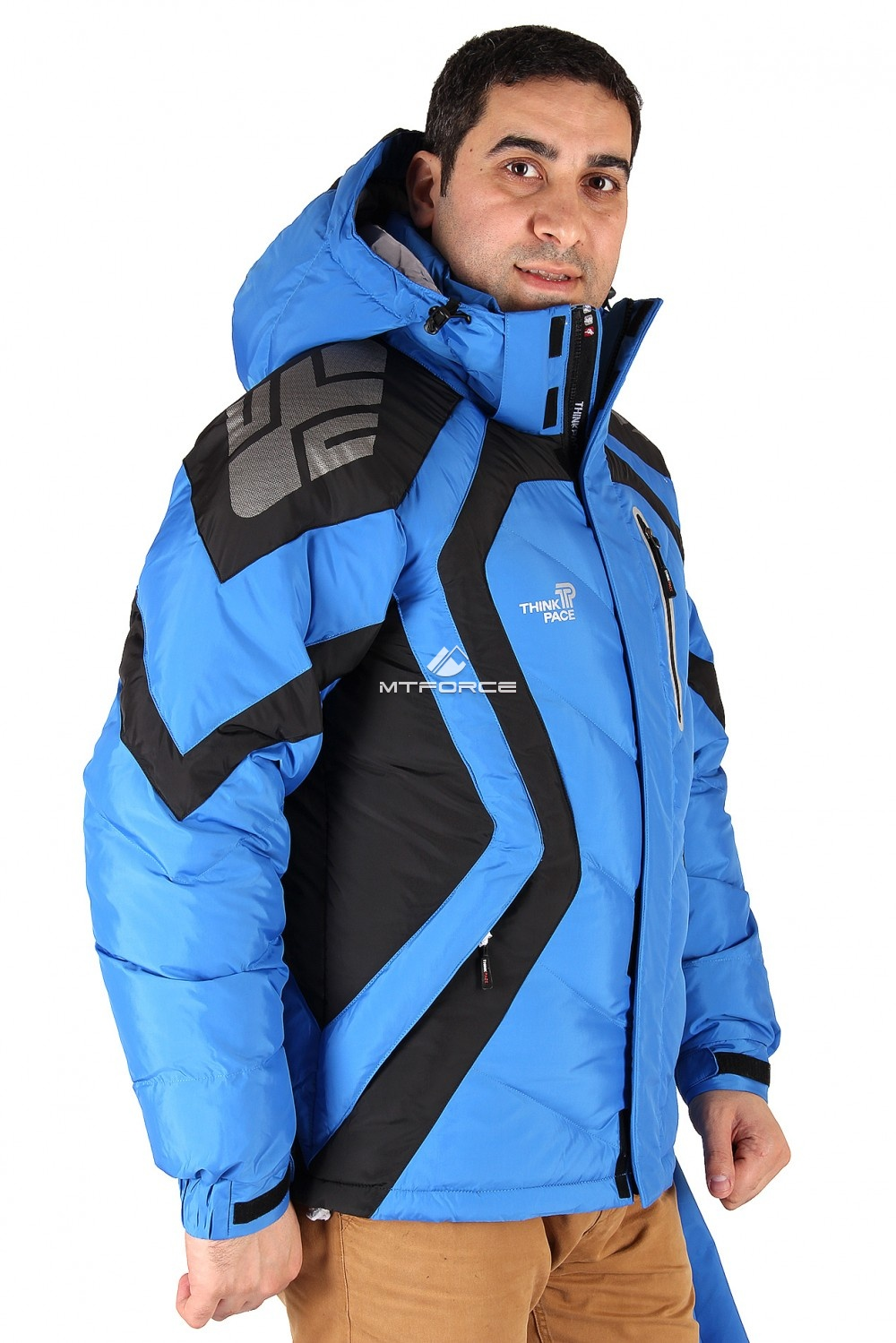 Купить оптом Куртка зимняя мужская синего цвета 9455S в Санкт-Петербурге