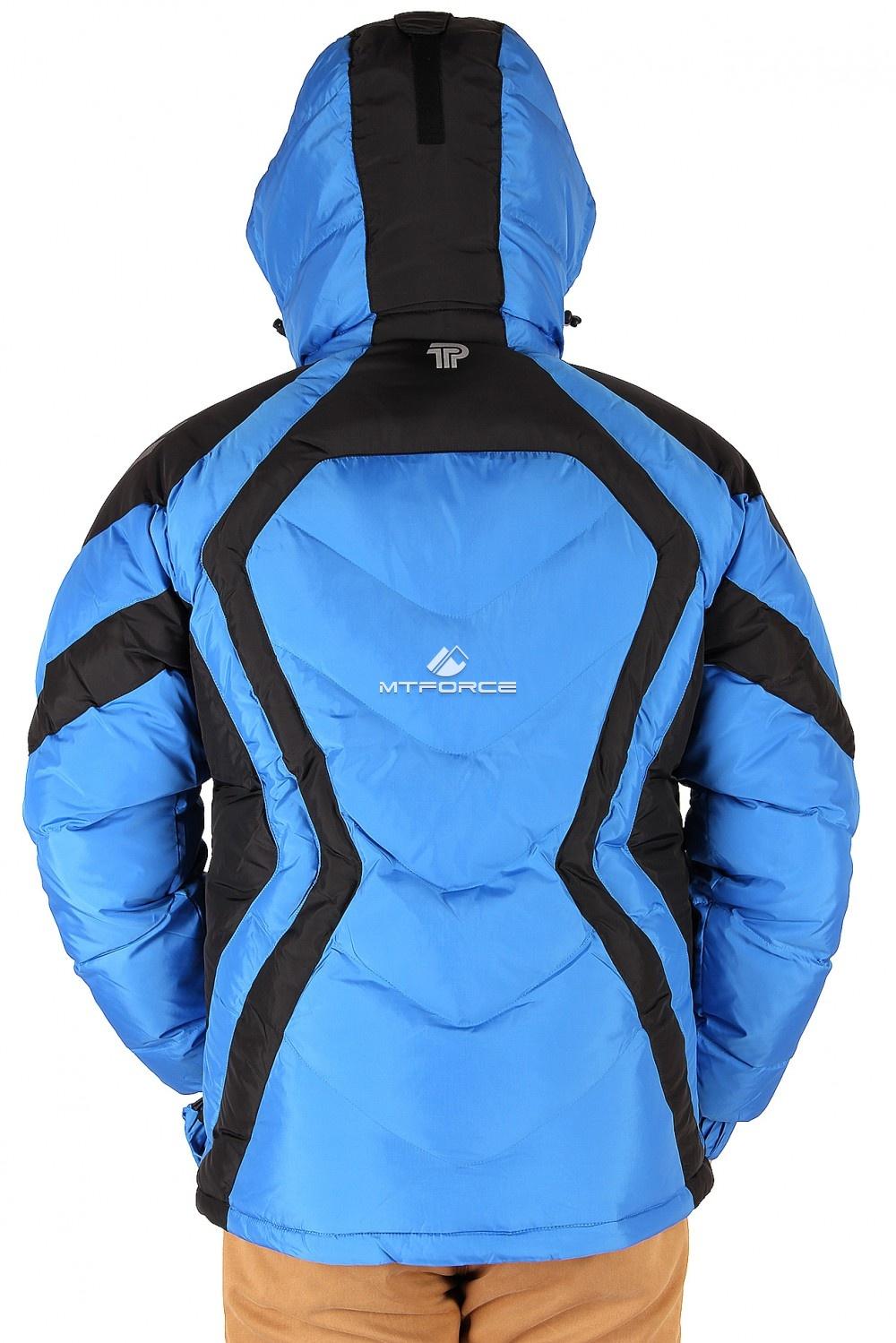 Купить оптом Куртка зимняя мужская синего цвета 9455S в Ростове-на-Дону