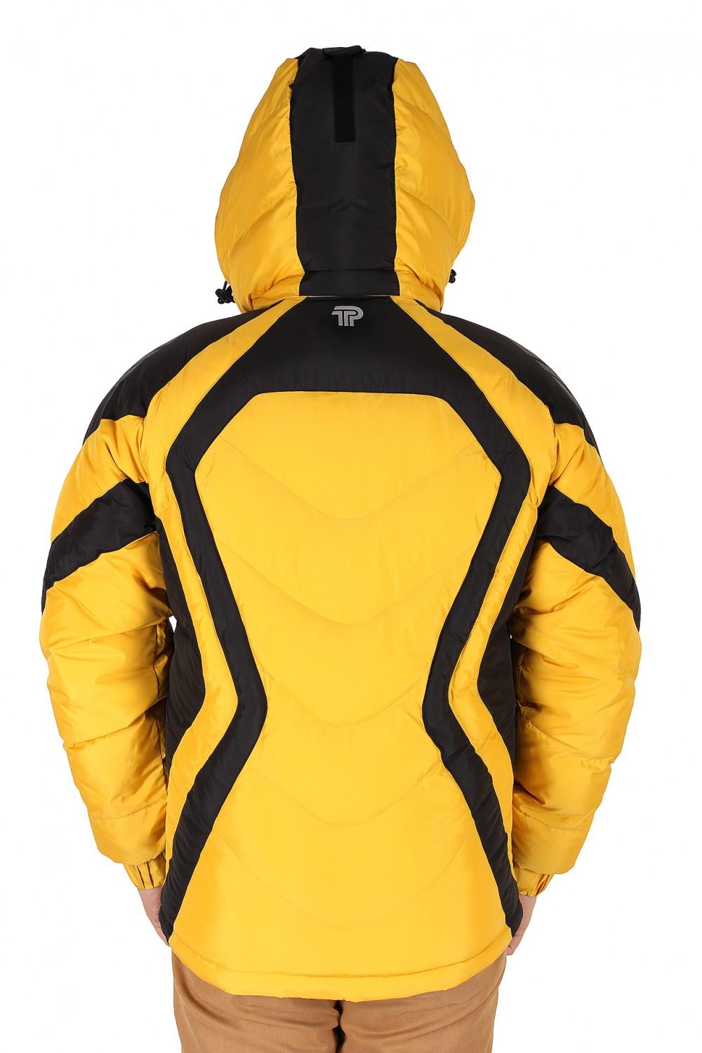Купить оптом Куртка зимняя мужская желтого цвета 9455J в Екатеринбурге
