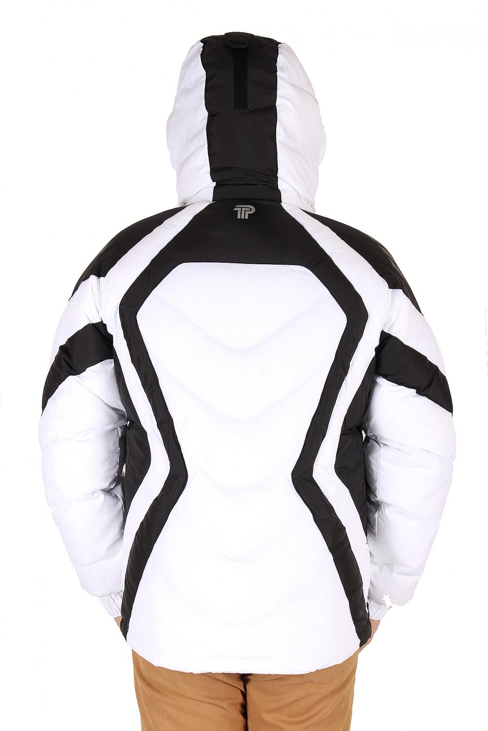 Купить оптом Куртка зимняя мужская белого цвета 9455Bl в Самаре