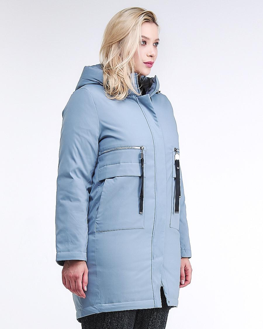 Купить оптом Куртка зимняя женская молодежная серого цвета 95-906_2Sr в Казани