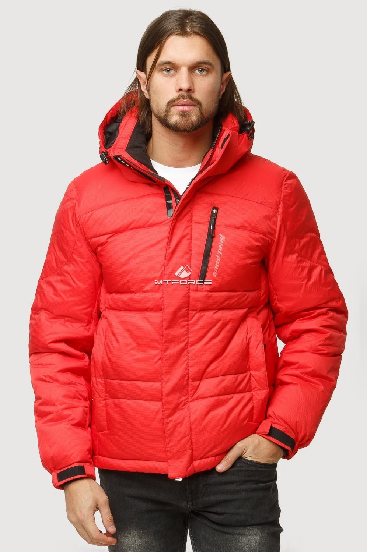 Купить оптом Куртка зимняя мужская красного цвета 9521Kr в Нижнем Новгороде