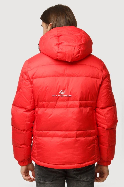 Купить оптом Куртка зимняя мужская красного цвета 9521Kr в Уфе