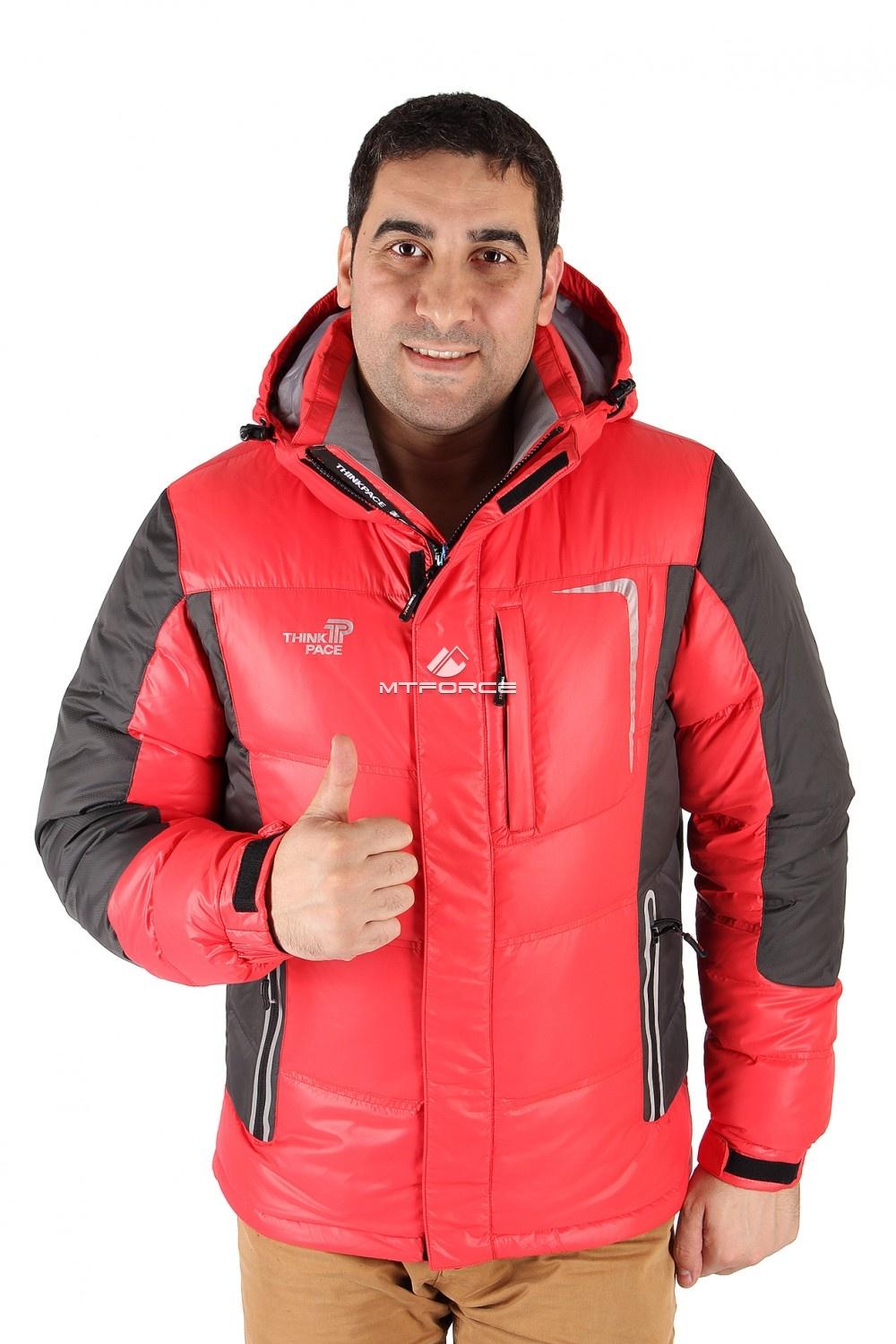 Купить  оптом Куртка пуховик мужская красного цвета 9573Kr