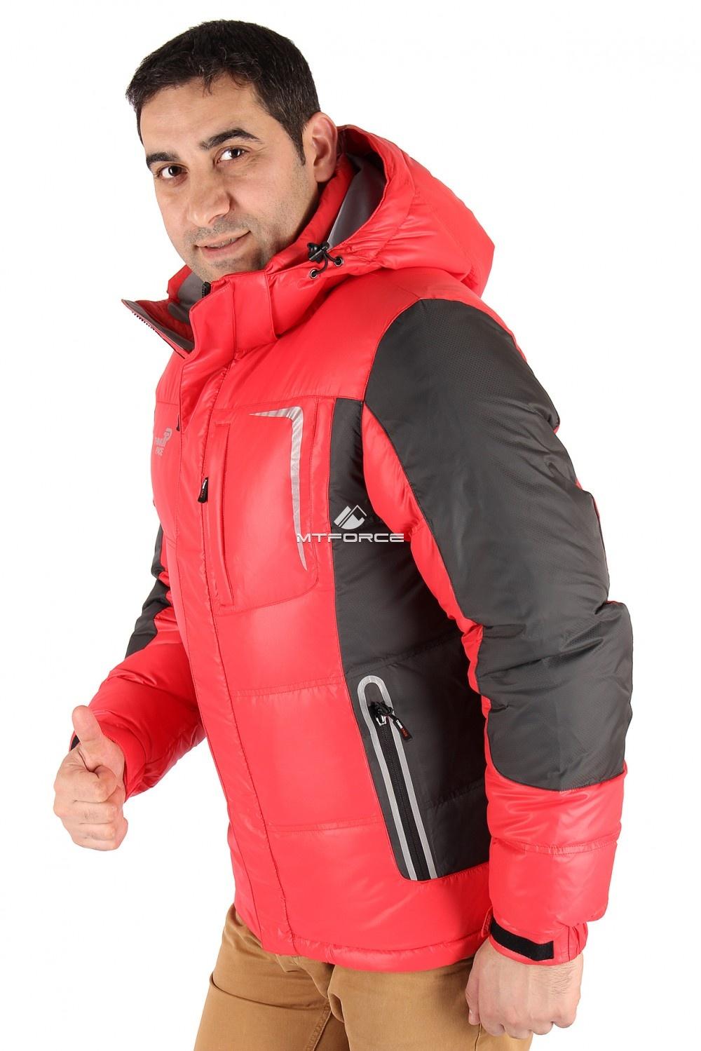 Купить оптом Куртка пуховик мужская красного цвета 9573Kr в Ростове-на-Дону