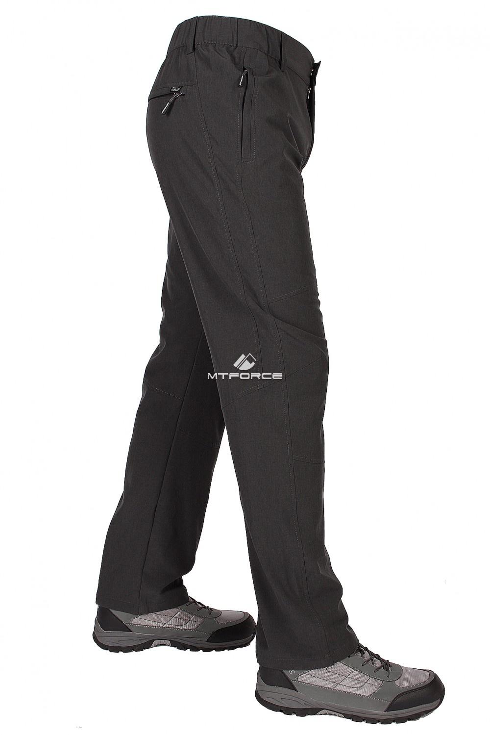 Купить оптом Брюки стильные мягкие спортивные темно-серого цвета 9605TС в Воронеже