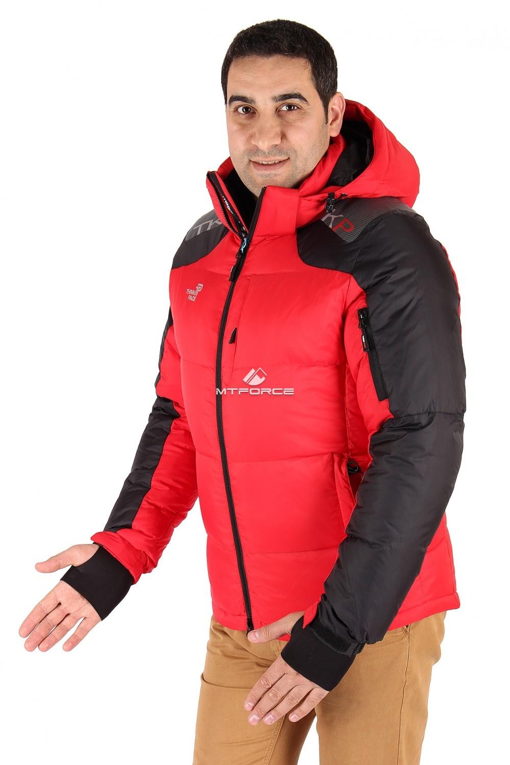 Купить оптом Куртка пуховик мужская красного цвета 9636Kr в Санкт-Петербурге