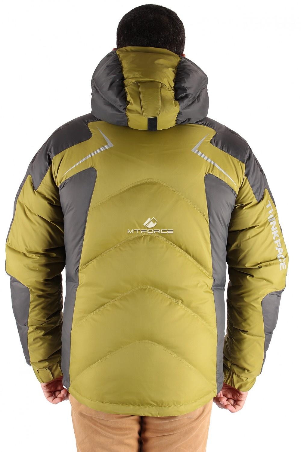 Купить оптом Куртка пуховик мужская болотного цвета 9683Bt в Нижнем Новгороде