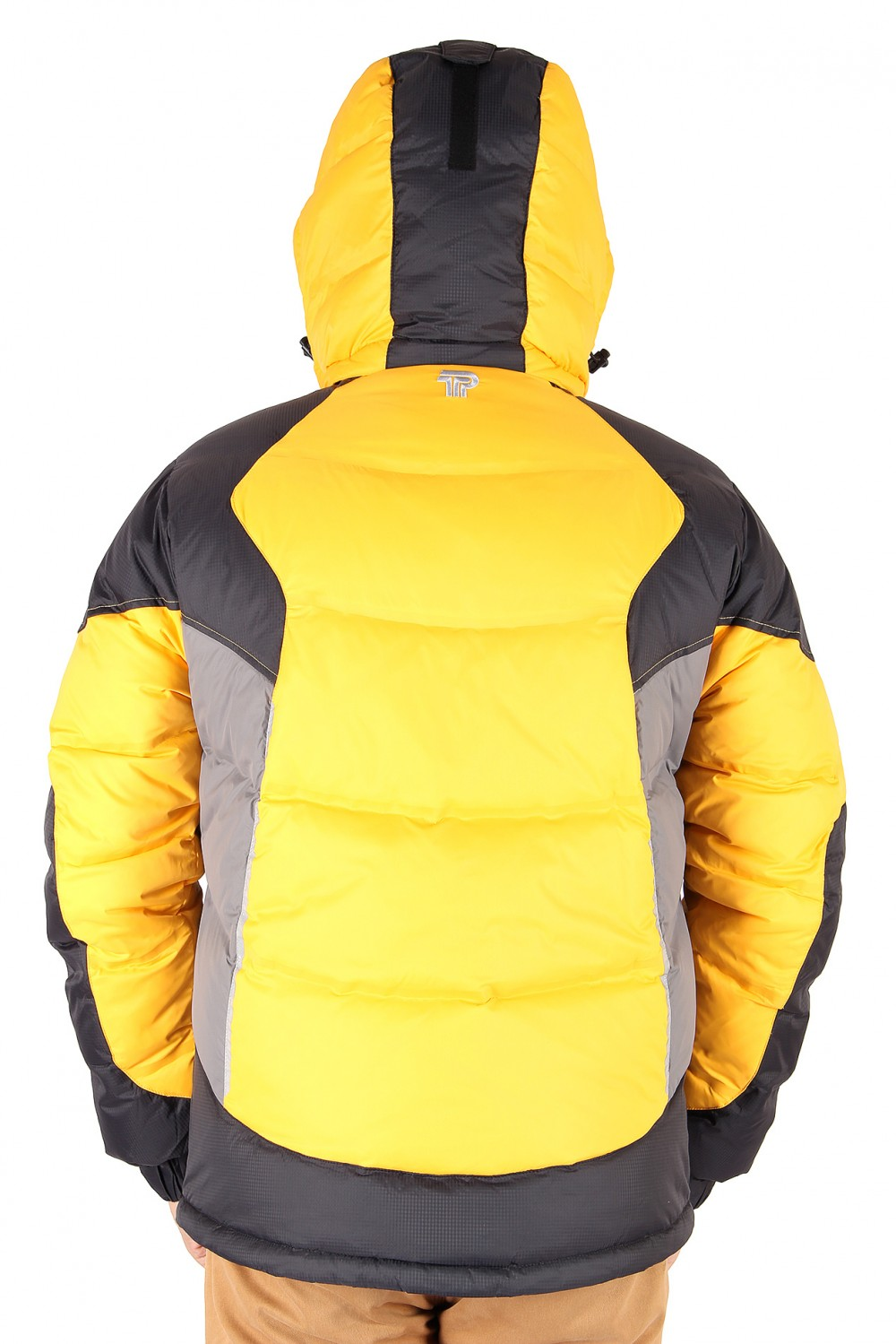 Купить оптом Куртка пуховик мужская желтого цвета 9855J в Волгоградке