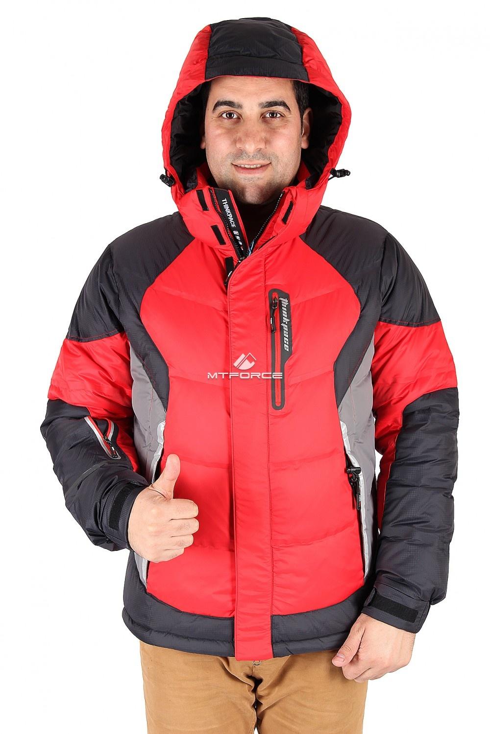 Купить                                  оптом Куртка пуховик мужская красного цвета 9855Kr