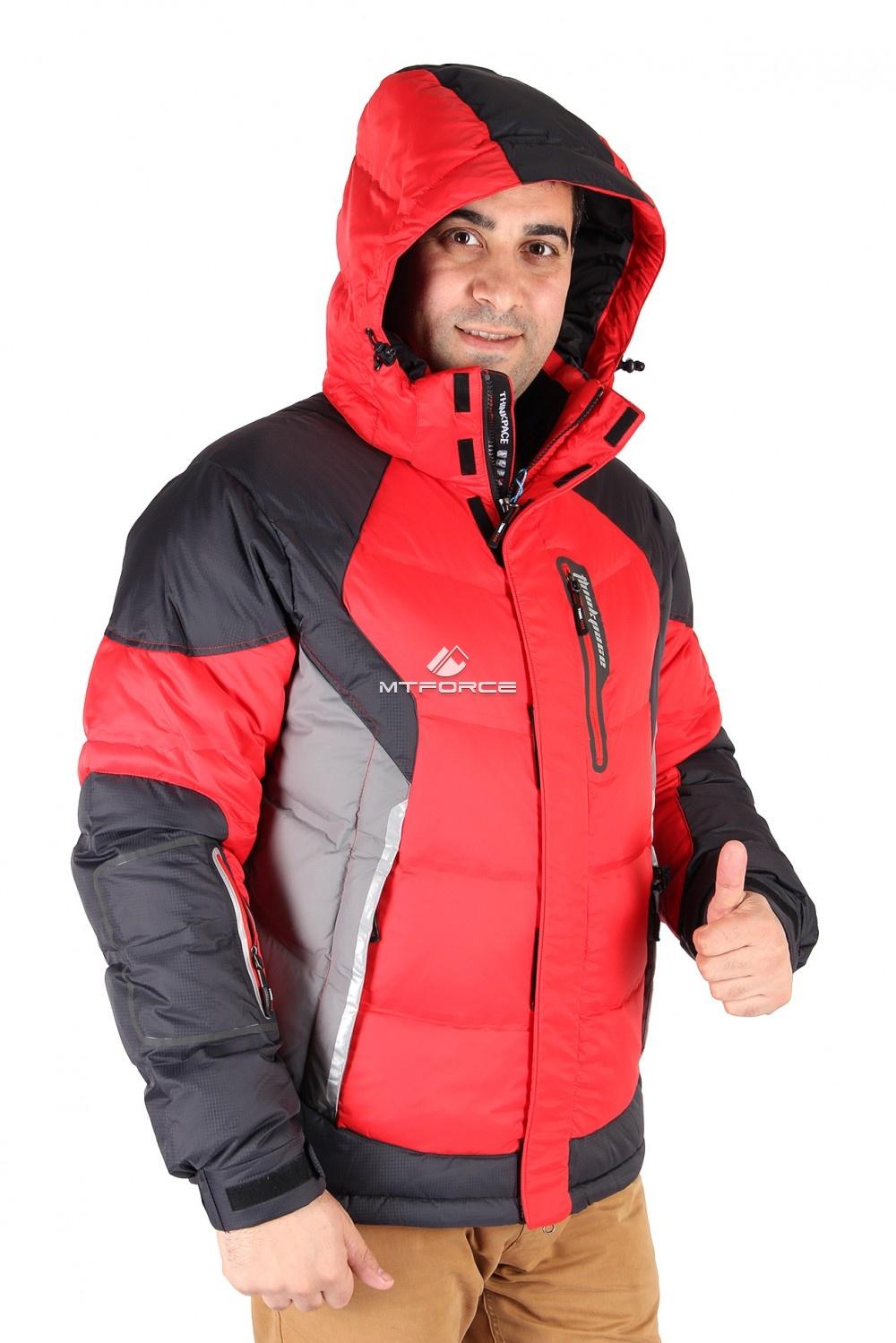 Купить оптом Куртка пуховик мужская красного цвета 9855Kr в  Красноярске