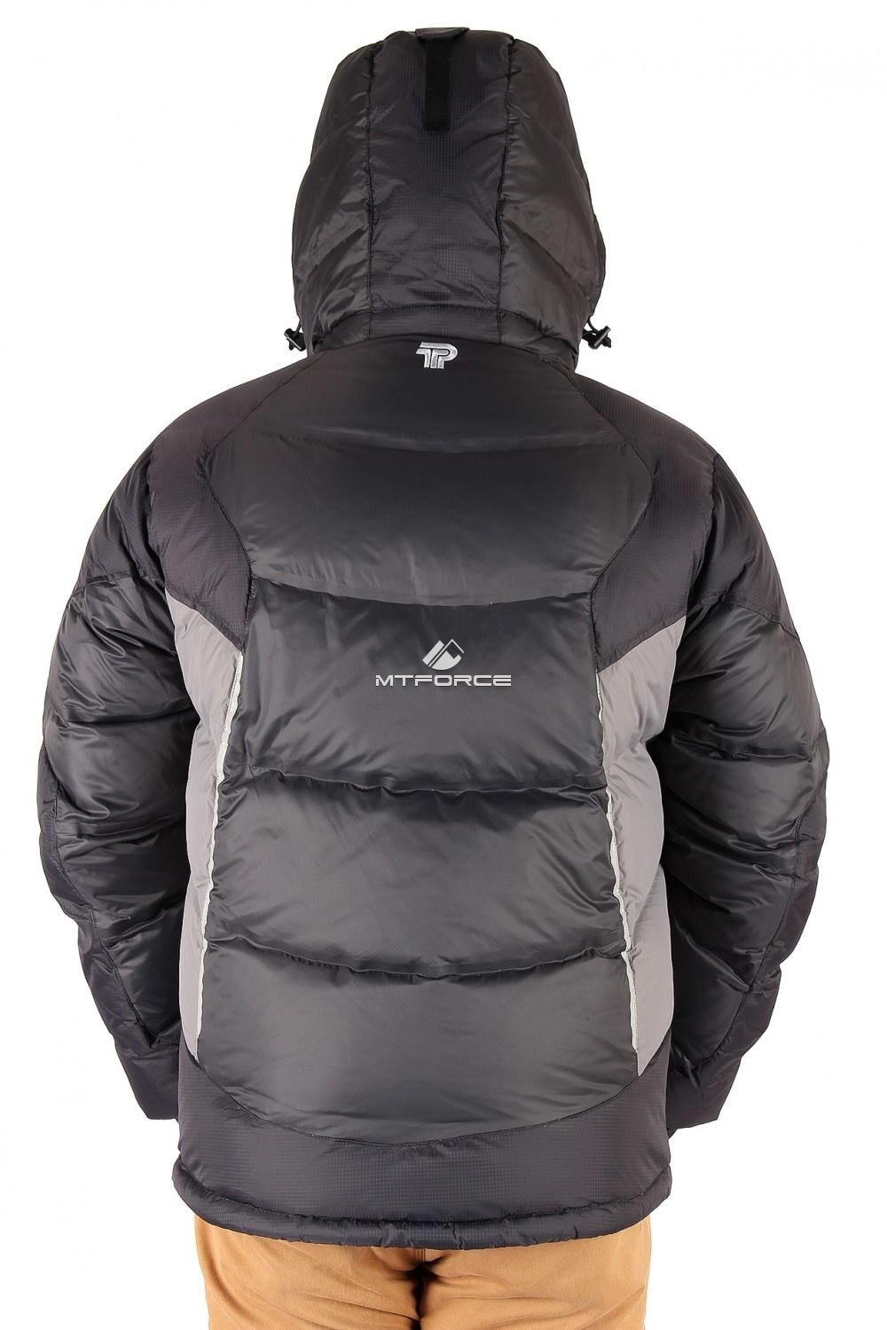 Купить оптом Куртка пуховик мужская черного цвета 9855Ch в Уфе