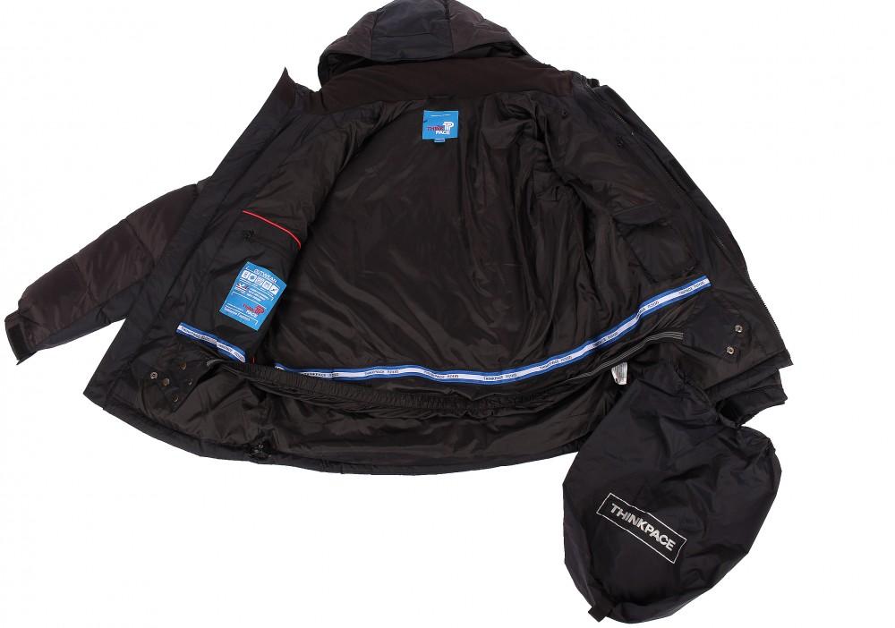 Купить оптом Куртка пуховик мужская черного цвета 9872Ch в Уфе