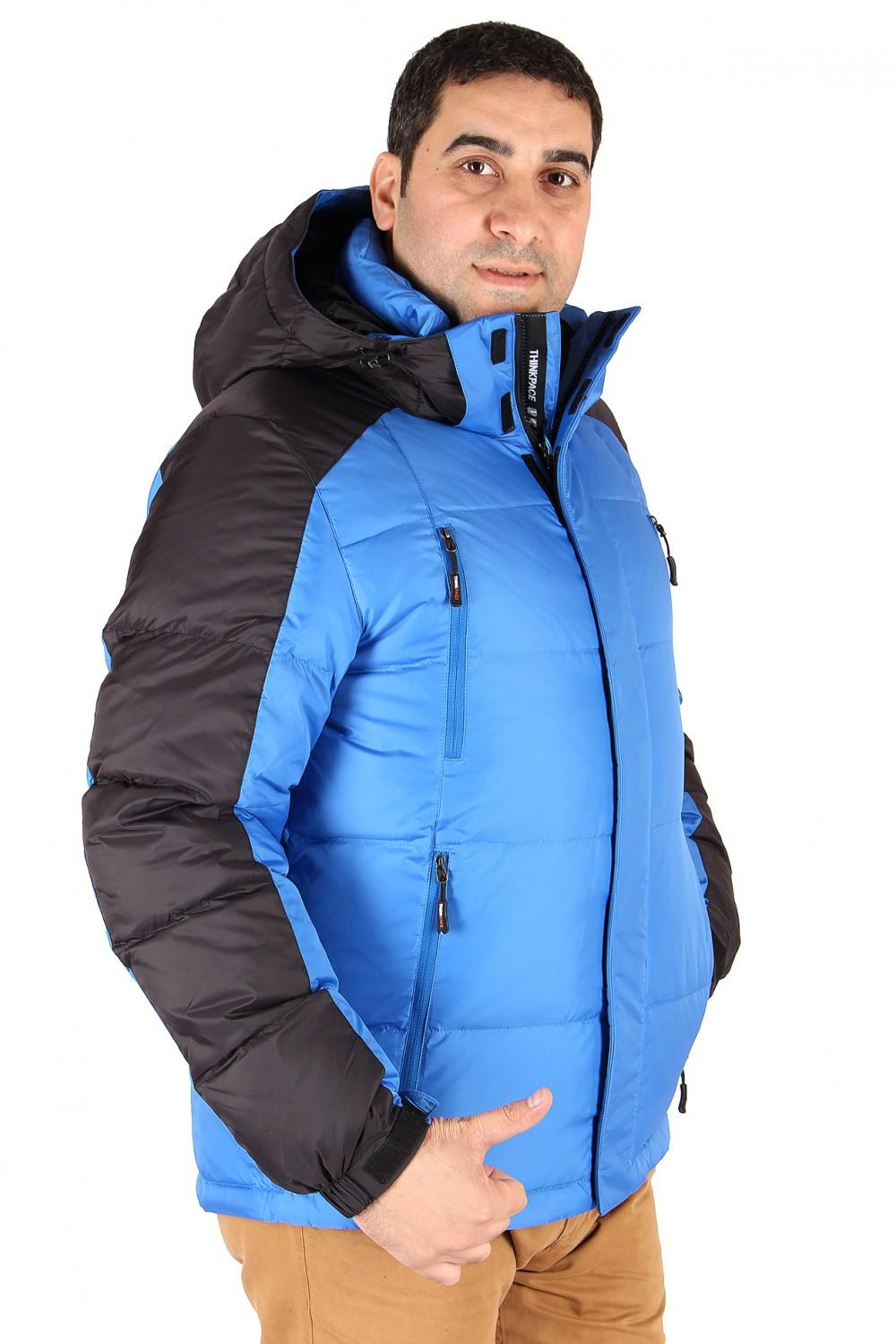 Купить оптом Куртка пуховик мужская синего цвета 9872S в Сочи