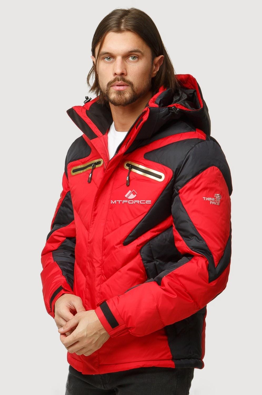 Купить оптом Куртка зимняя мужская красного цвета 9899Kr в Казани