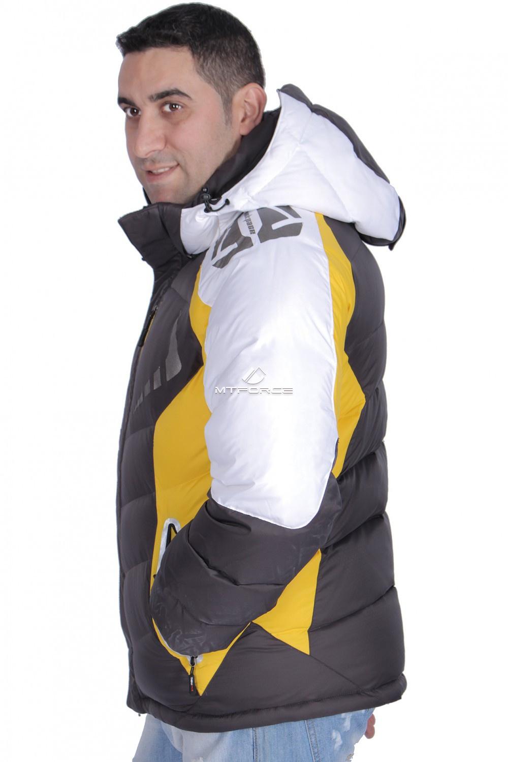 Купить оптом Куртка зимняя мужская желтого цвета 9942J в Перми