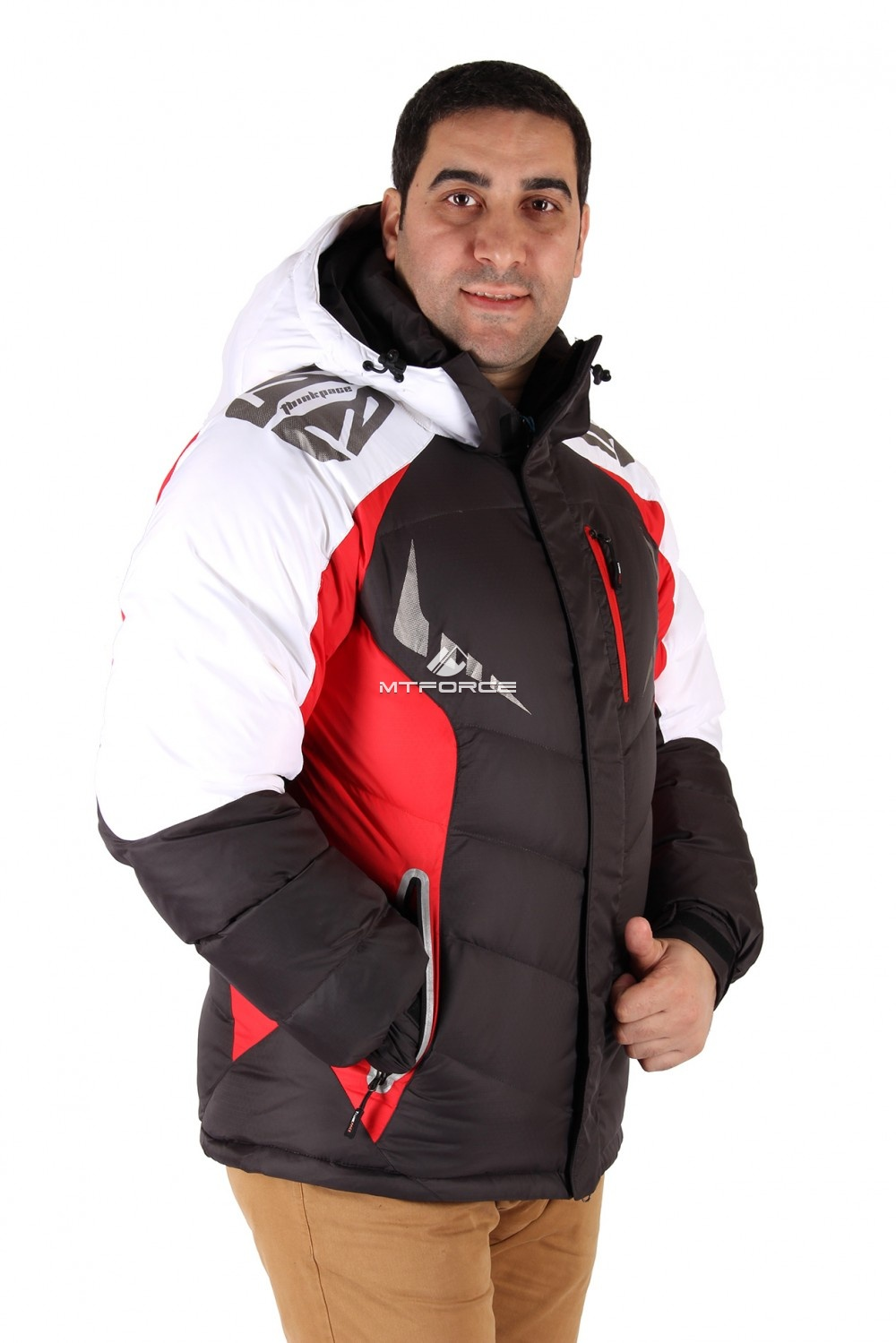 Купить оптом Куртка зимняя мужская черного цвета 9942Ch в Нижнем Новгороде