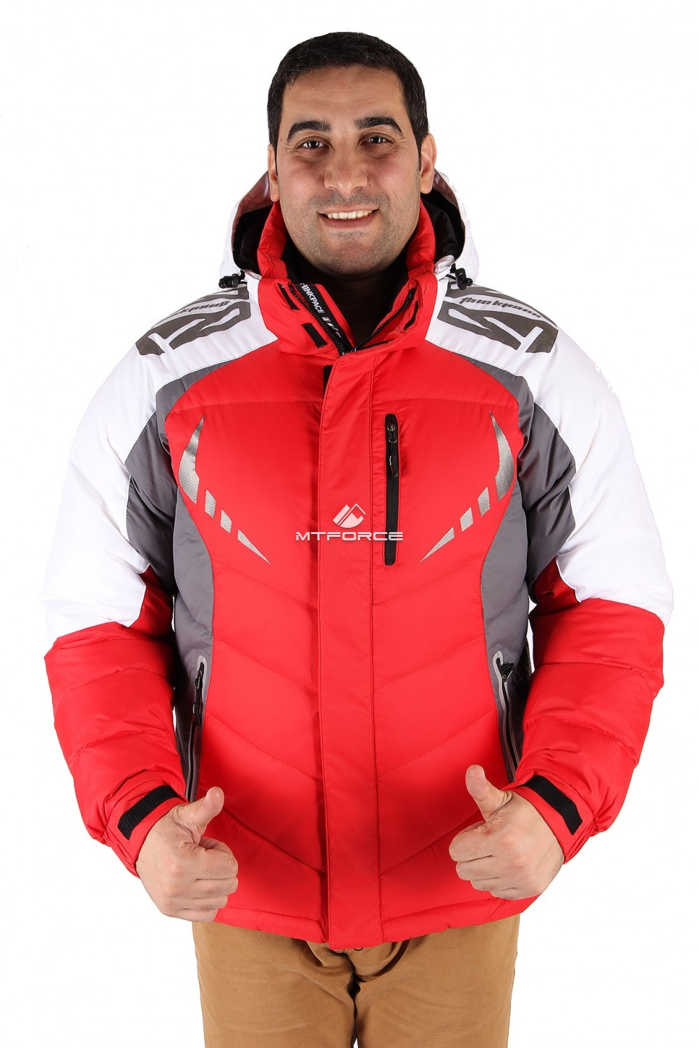 Купить оптом Куртка зимняя мужская красного цвета 9942Kr в Казани