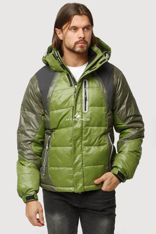 Купить оптом Куртка зимняя мужская болотного цвета 9952Bt в Казани