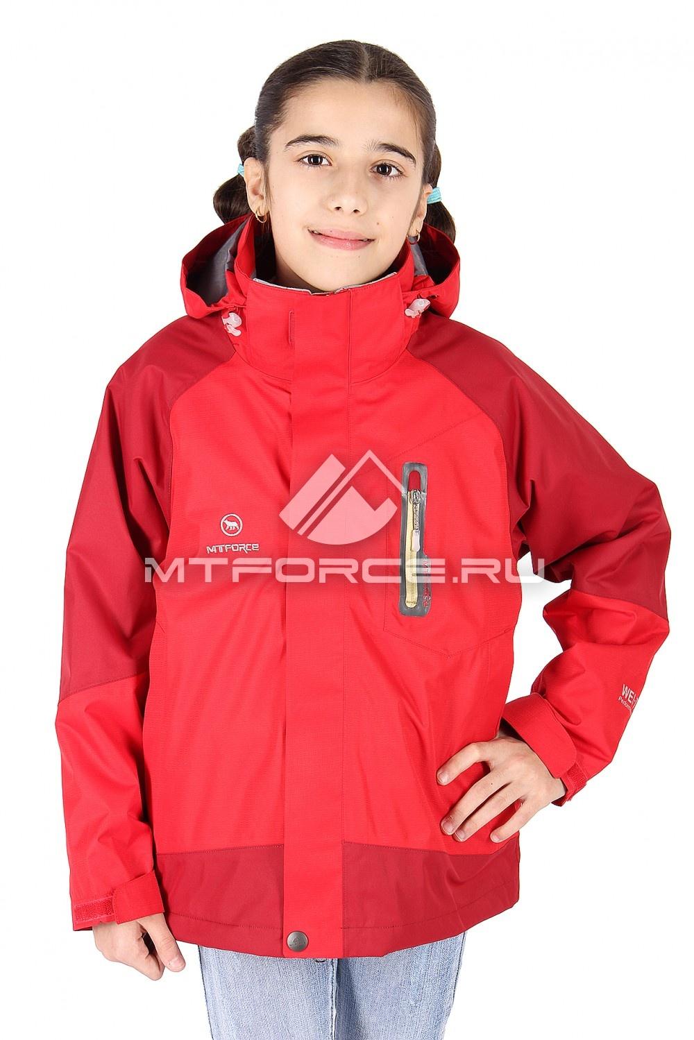 Купить оптом Куртка девочка три в одном красного цвета B01Kr
