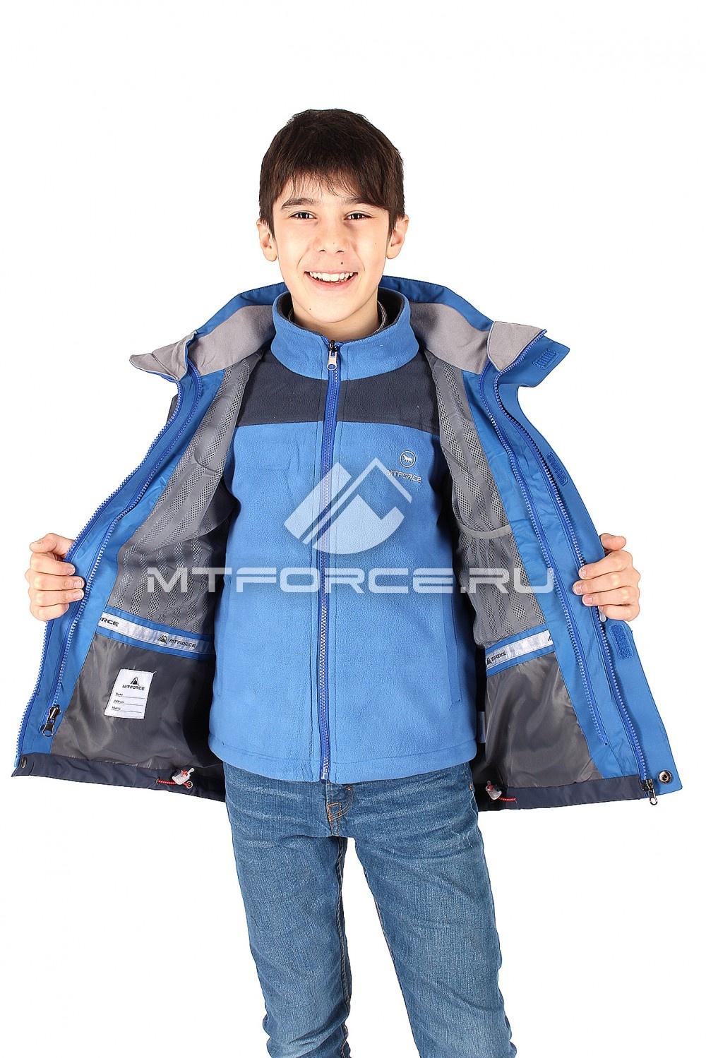 Купить оптом Куртка мальчик три в одном синего цвета B01S