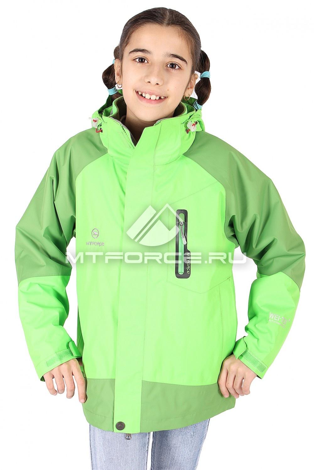 Купить                                  оптом Куртка девочка три в одном салатового цвета B01Sl