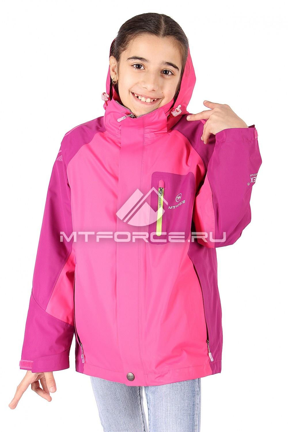 Купить оптом Куртка девочка три в одном малинового цвета 303М