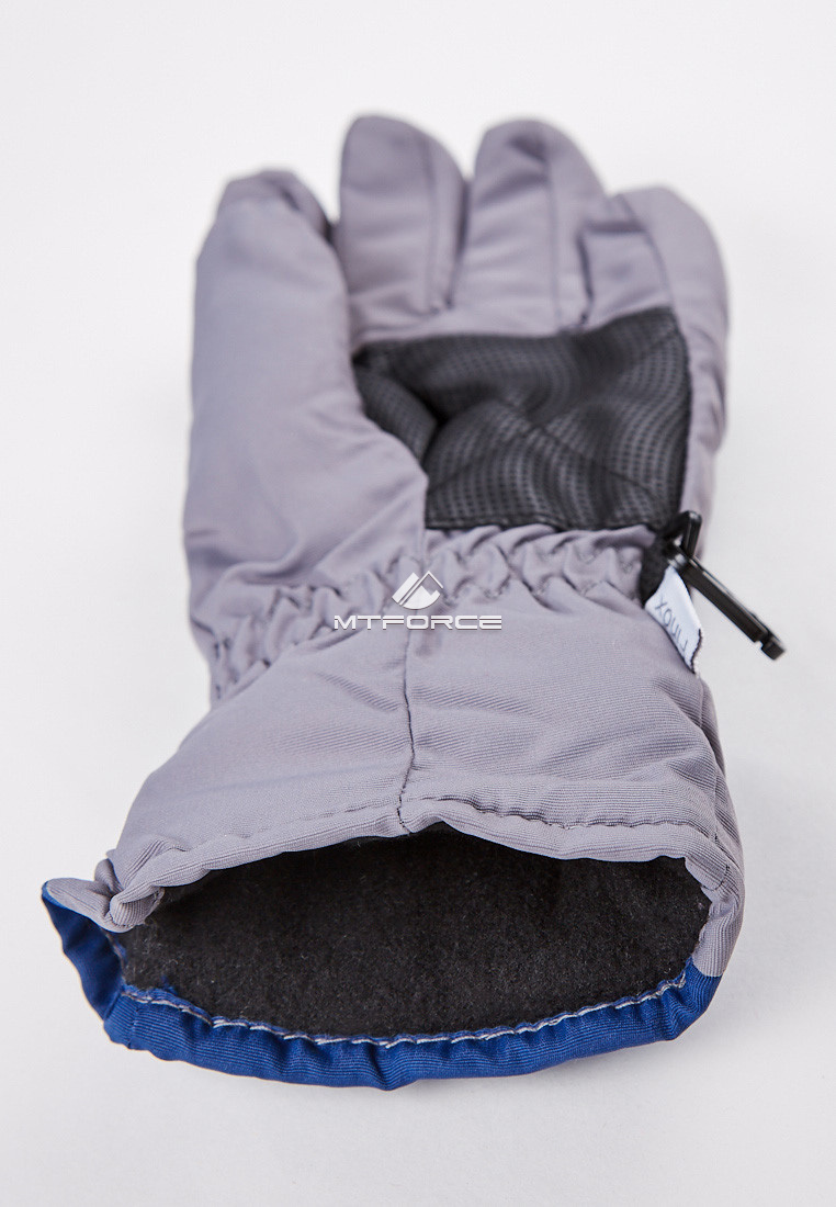 Купить оптом Перчатки подростковые горнолыжные темно-синего цвета CV-94TS