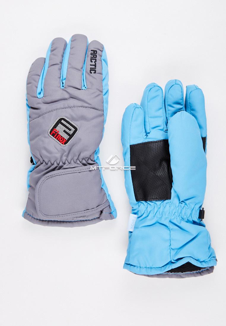 Купить оптом Перчатки подростковые горнолыжные светло-серого цвета CV-94SS