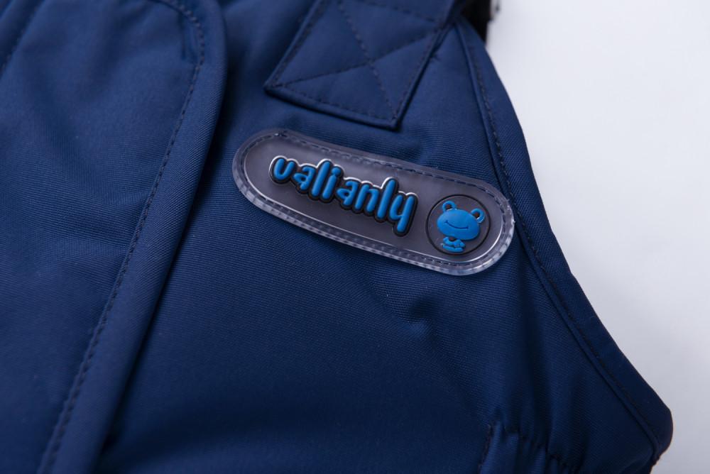 Купить оптом Горнолыжный костюм детский темно-синего цвета 8911TS в Перми