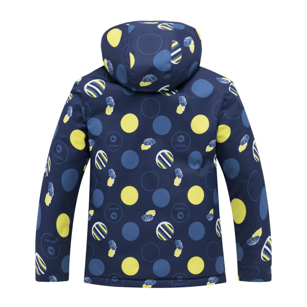 Купить оптом Горнолыжный костюм подростковый для мальчика синего цвета 8915S в Казани