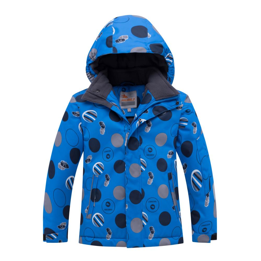 Купить оптом Горнолыжный костюм подростковый для мальчика синего цвета 8915S в Сочи