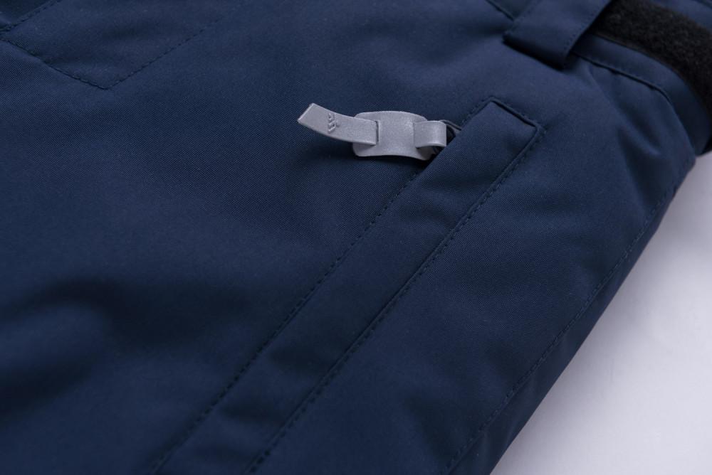 Купить оптом Горнолыжный костюм подростковый для мальчика темно-синего цвета 8915TS в Санкт-Петербурге