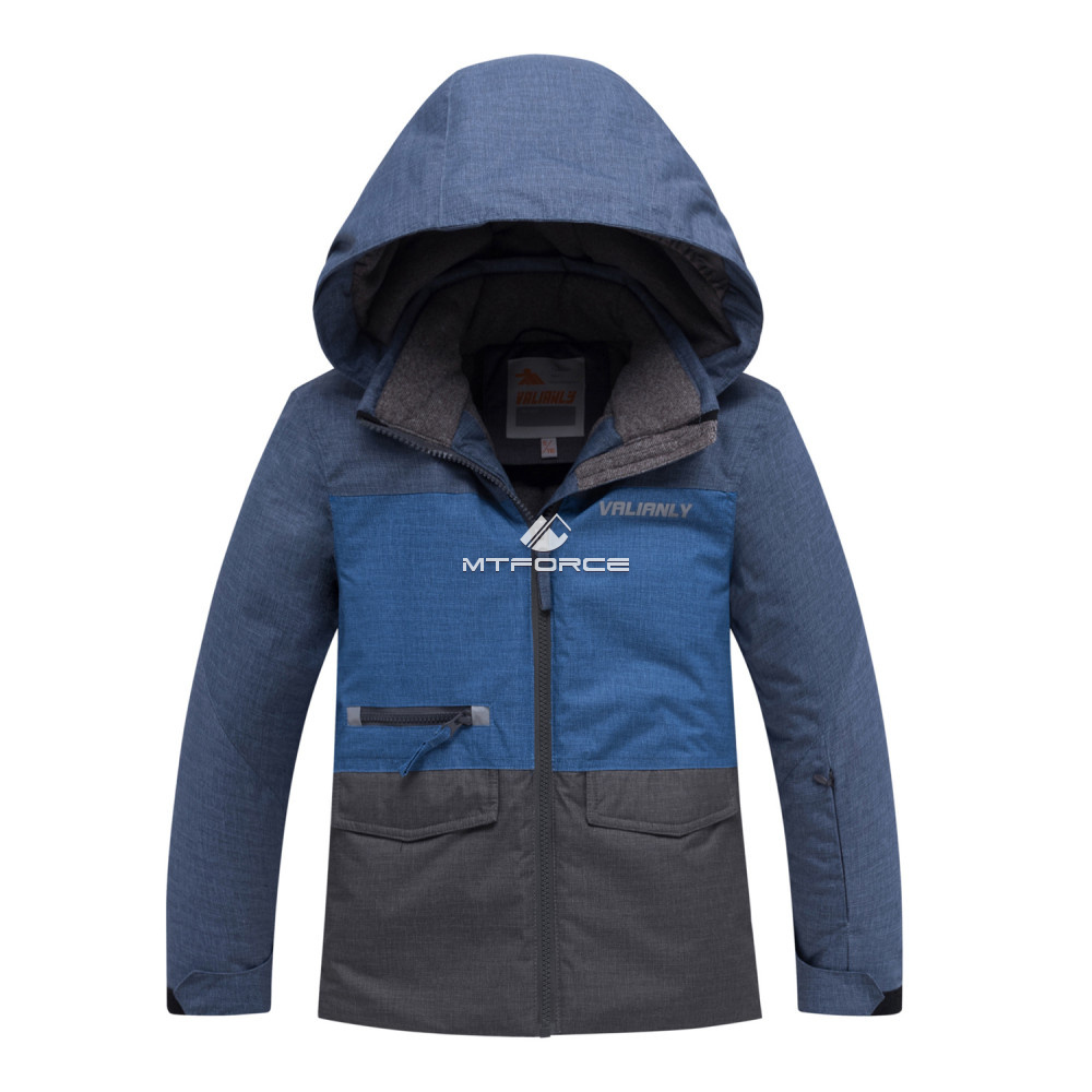 Купить оптом Горнолыжный костюм подростковый для мальчика синего 8929S в Перми