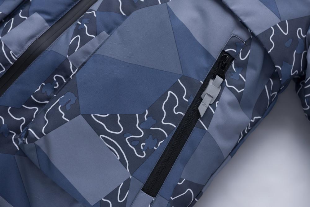 Купить оптом Горнолыжный костюм подростковый для мальчика синий 8923S в Екатеринбурге